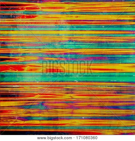 Vintage background in scrap-booking style, faded grunge texture with different color patterns: yellow (beige); green; blue; red (orange); purple (violet); pink