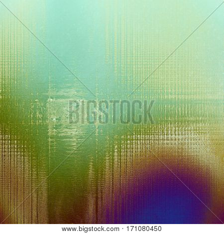 Glamour vintage frame, decorative grunge background. Aged texture with different color patterns: yellow (beige); brown; green; purple (violet); cyan; blue