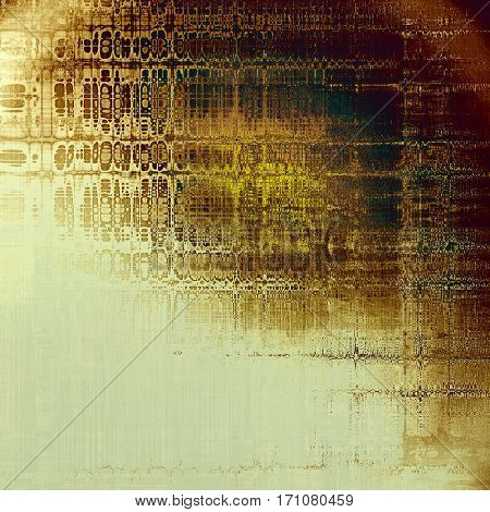 Ancient texture or damaged old style background with vintage grungy design elements and different color patterns: yellow (beige); brown; green; gray; white