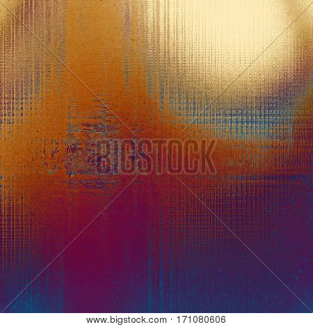 Old grunge vintage background or shabby texture with different color patterns: yellow (beige); brown; blue; red (orange); purple (violet); pink