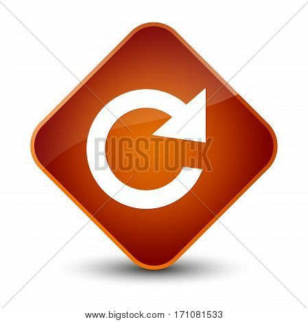 Reply Rotate Icon Special Brown Diamond Button