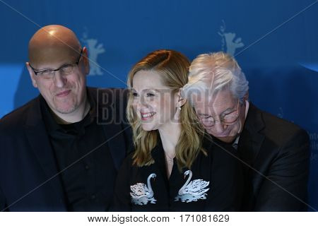 Richard Gere, Laura Linney, Oren Moverman attend the 'The Dinner' photo call during the 67th Berlinale International Film Festival Berlin at Grand Hyatt Hotel on February 10, 2017 in Berlin, Germany