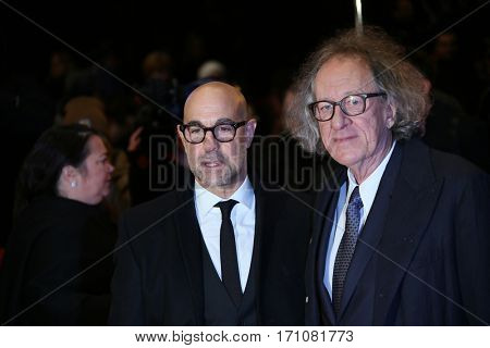 Geoffrey Rush, Stanley Tucci attend the 'Final Portrait' premiere during the 67th Berlinale  Festival Berlin at Berlinale Palace on February 11, 2017 in Berlin, Germany.