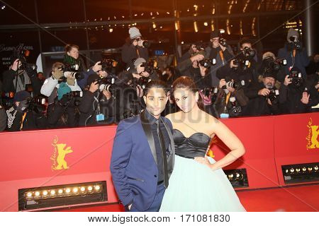 Huma Qureshi,Manish Dayal  attend the 'Viceroy's House' premiere during the 67th Berlinale International Film Festival Berlin at Berlinale Palace on February 12, 2017 in Berlin, Germany