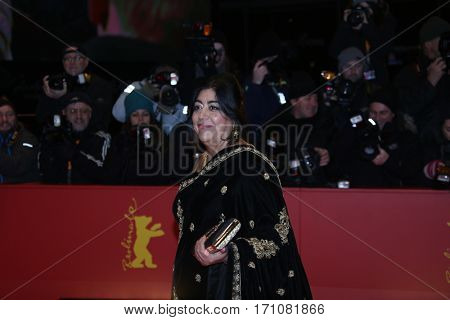 Gurinder Chadha attends the 'Viceroy's House' premiere during the 67th Berlinale International Film Festival Berlin at Berlinale Palace on February 12, 2017 in Berlin, Germany