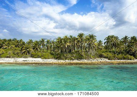 Beautiful landscape of tropical beach, Maldives island