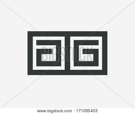 Letter AA logo line design abstract  ,logo icon design template.