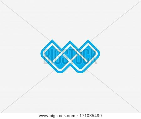 Abstract letter W icon alphabet symbol. Letter W logo icon design vector sign.
