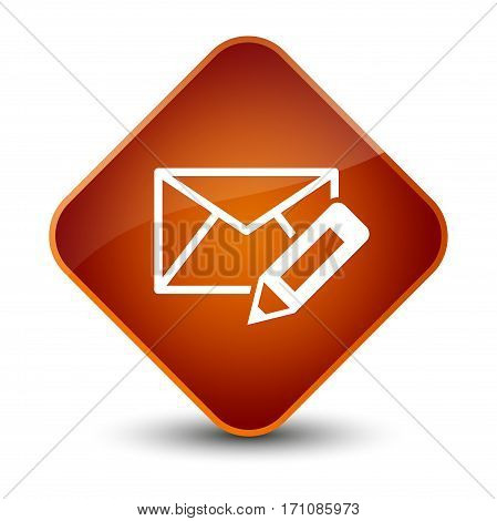 Edit Email Icon Special Brown Diamond Button