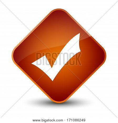 Validation Icon Special Brown Diamond Button
