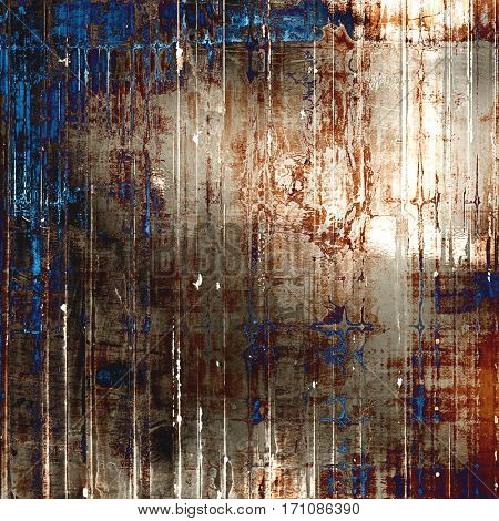 Grunge background or vintage texture in traditional retro style. With different color patterns: yellow (beige); brown; gray; blue; white