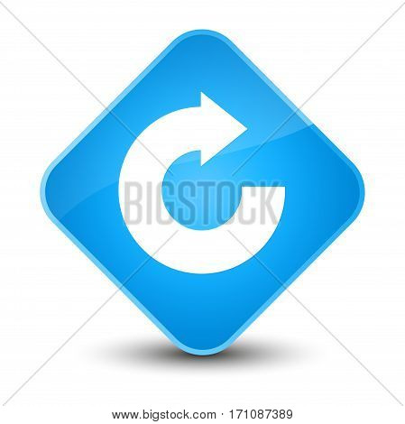 Reply Arrow Icon Special Cyan Blue Diamond Button