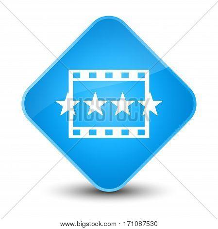 Movie Reviews Icon Special Cyan Blue Diamond Button