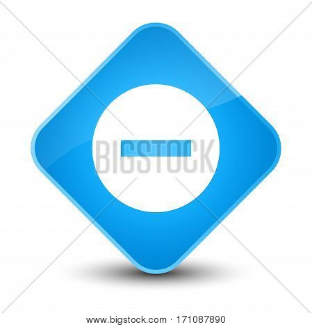 Cancel Icon Special Cyan Blue Diamond Button