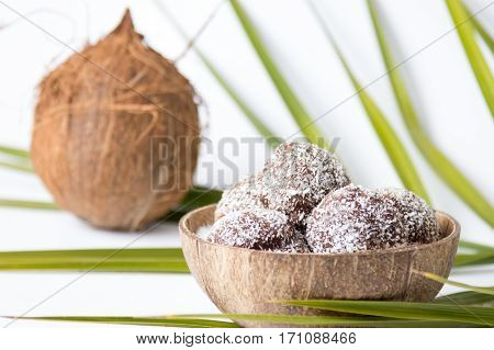 Homemade Coconut Cookies In A Shell