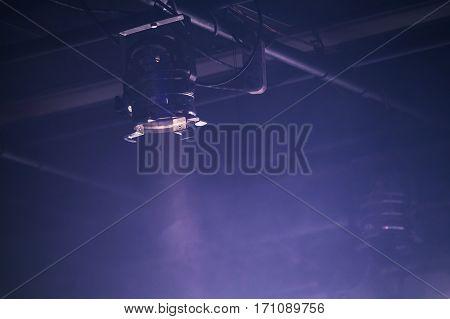 Scenic Spot Light Over Dark Blue