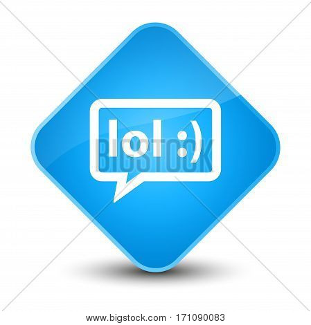Lol Bubble Icon Special Cyan Blue Diamond Button