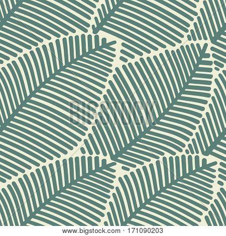 Seamless pattern of stylized leaves. Decorative template diagonal leaf texture