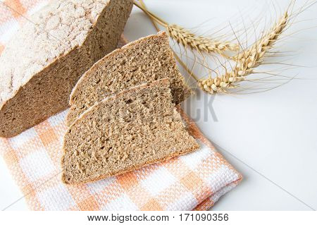 Home Baked Rye Bread Slices