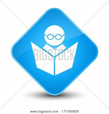 Elearning Icon Special Cyan Blue Diamond Button