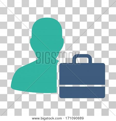 Accounter icon. Vector illustration style is flat iconic bicolor symbol cobalt and cyan colors transparent background. Designed for web and software interfaces.