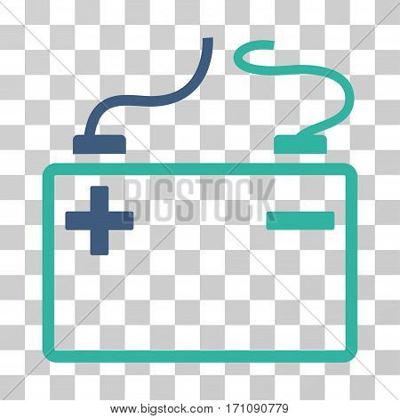 Accumulator icon. Vector illustration style is flat iconic bicolor symbol cobalt and cyan colors transparent background. Designed for web and software interfaces.
