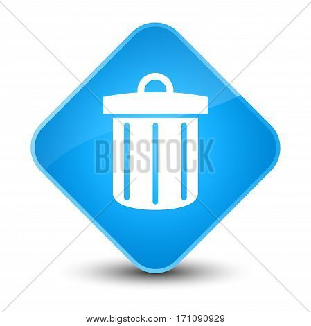 Recycle Bin Icon Special Cyan Blue Diamond Button