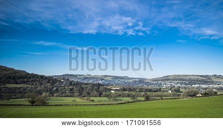 Color picture landscape.View on a Bath in Somerset.England.