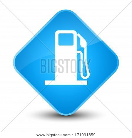 Fuel Dispenser Icon Special Cyan Blue Diamond Button