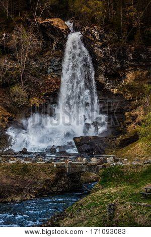 Steinsdalsfossen In Hardanger, Norway