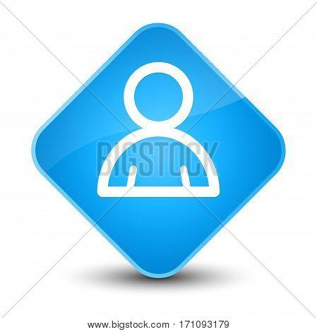 Member Icon Special Cyan Blue Diamond Button