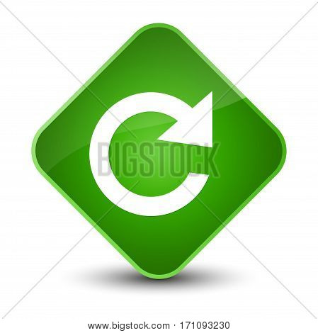 Reply Rotate Icon Special Green Diamond Button