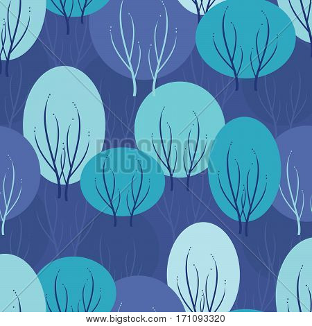 Winter vector seamless pattern for decoration, paper, fabric, packing etc.