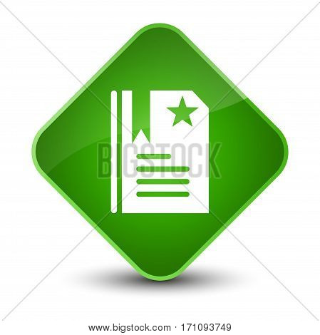 Bookmark Icon Special Green Diamond Button