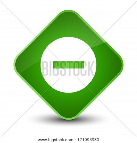 Cancel Icon Special Green Diamond Button