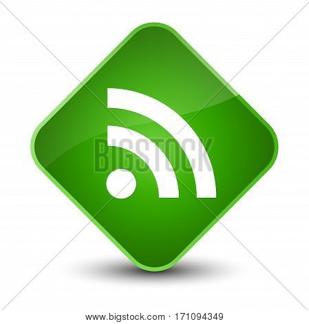 Rss Icon Special Green Diamond Button