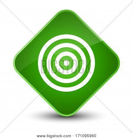 Target Icon Special Green Diamond Button