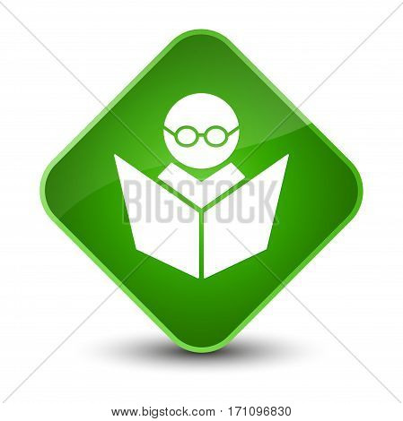 Elearning Icon Special Green Diamond Button