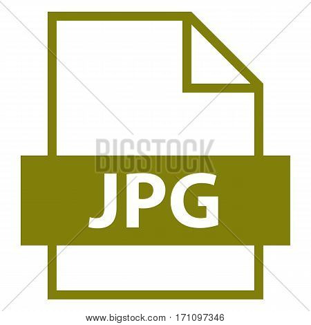 Use it in all your designs. Filename extension icon JPG Joint Photographic Experts Group in flat style. Quick and easy recolorable shape. Vector illustration a graphic element.