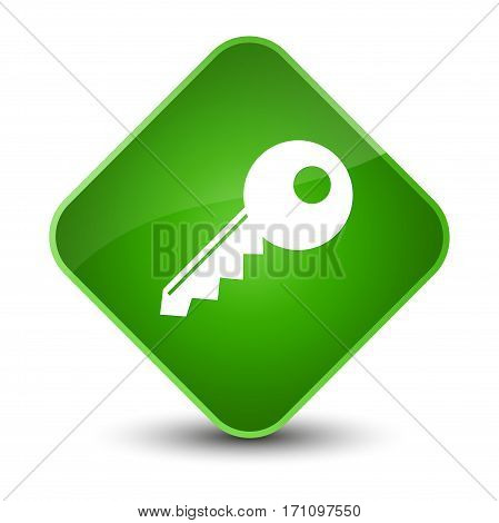 Key Icon Special Green Diamond Button