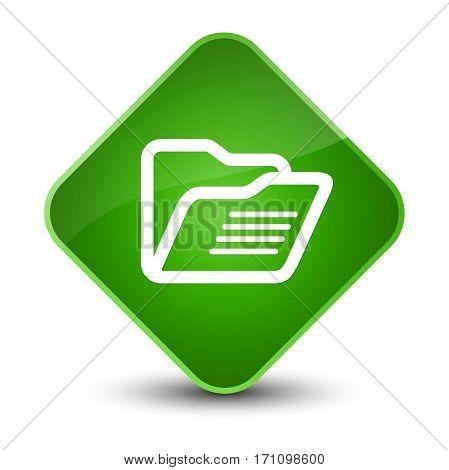 Folder Icon Special Green Diamond Button