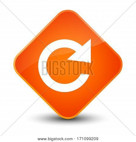 Reply Rotate Icon Special Orange Diamond Button