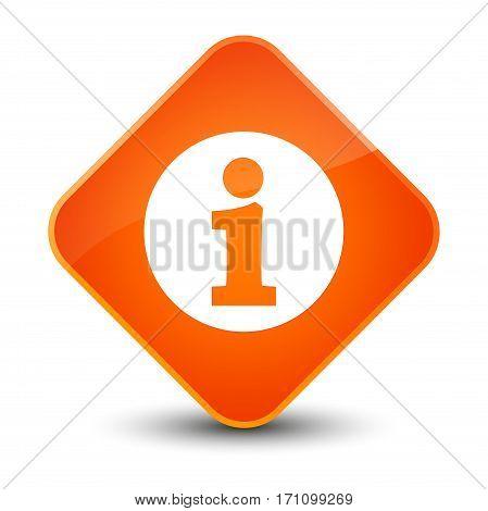 Info Icon Special Orange Diamond Button
