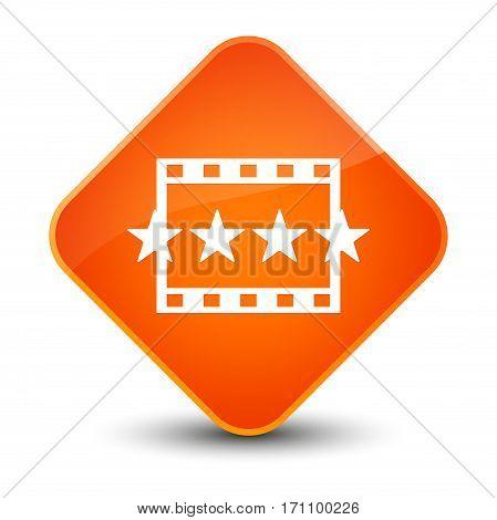 Movie Reviews Icon Special Orange Diamond Button