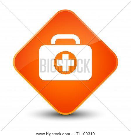 First Aid Kit Bag Icon Special Orange Diamond Button