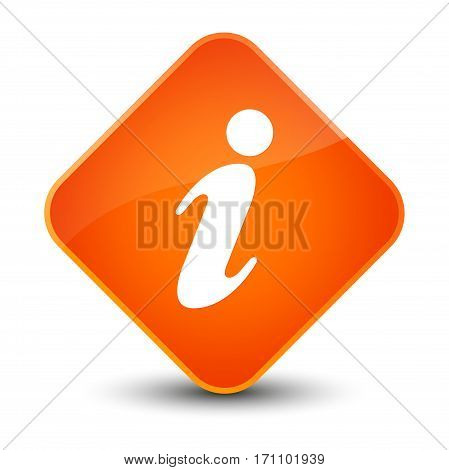 Info Icon Special Orange Diamond Button