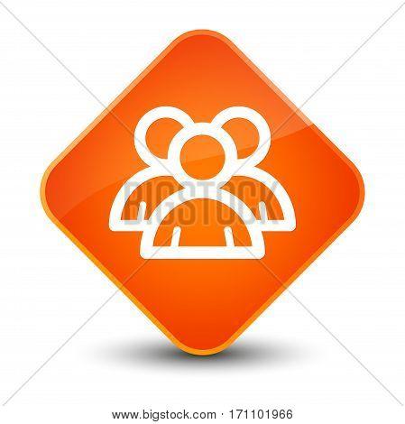 Group Icon Special Orange Diamond Button