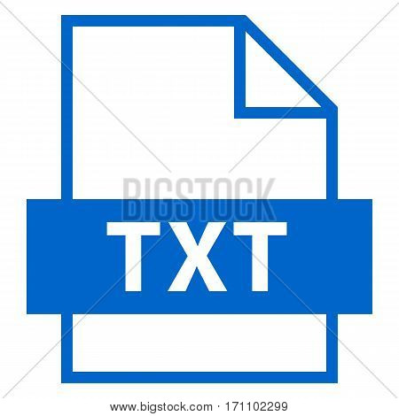 Use it in all your designs. Filename extension icon TXT Document file format in flat style. Quick and easy recolorable shape. Vector illustration a graphic element.