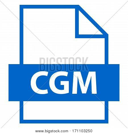 Use it in all your designs. Filename extension icon CGM Computer Graphics Metafile in flat style. Quick and easy recolorable shape. Vector illustration a graphic element.