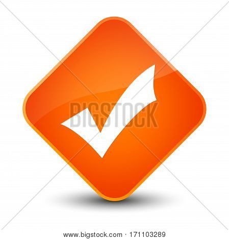 Validation Icon Special Orange Diamond Button